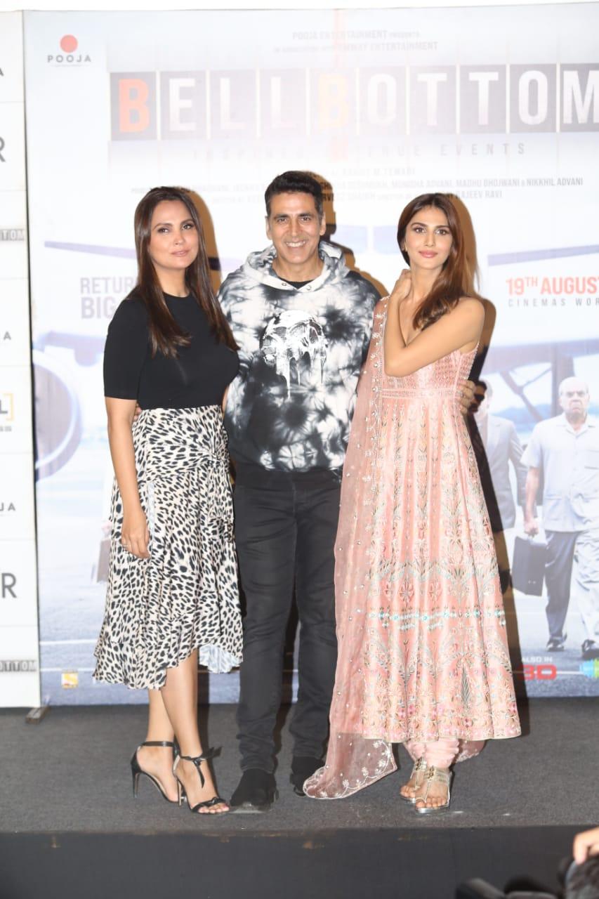 Akshay Kumar, Lara Dutta, Vaani Kapoor launch Bell Bottom movie trailer