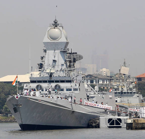 INS Kochi is equipped with sophisticated digital networks, and a unique feature of the warship is the high level of indigenisation, with most systems sourced from within India.