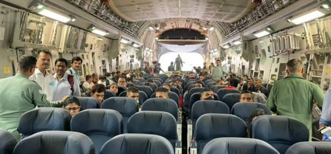 Immediately after passengers on board the C-17 heavy-lift transport aircraft deplaned, they were greeted by people present on the tarmac, the official said.