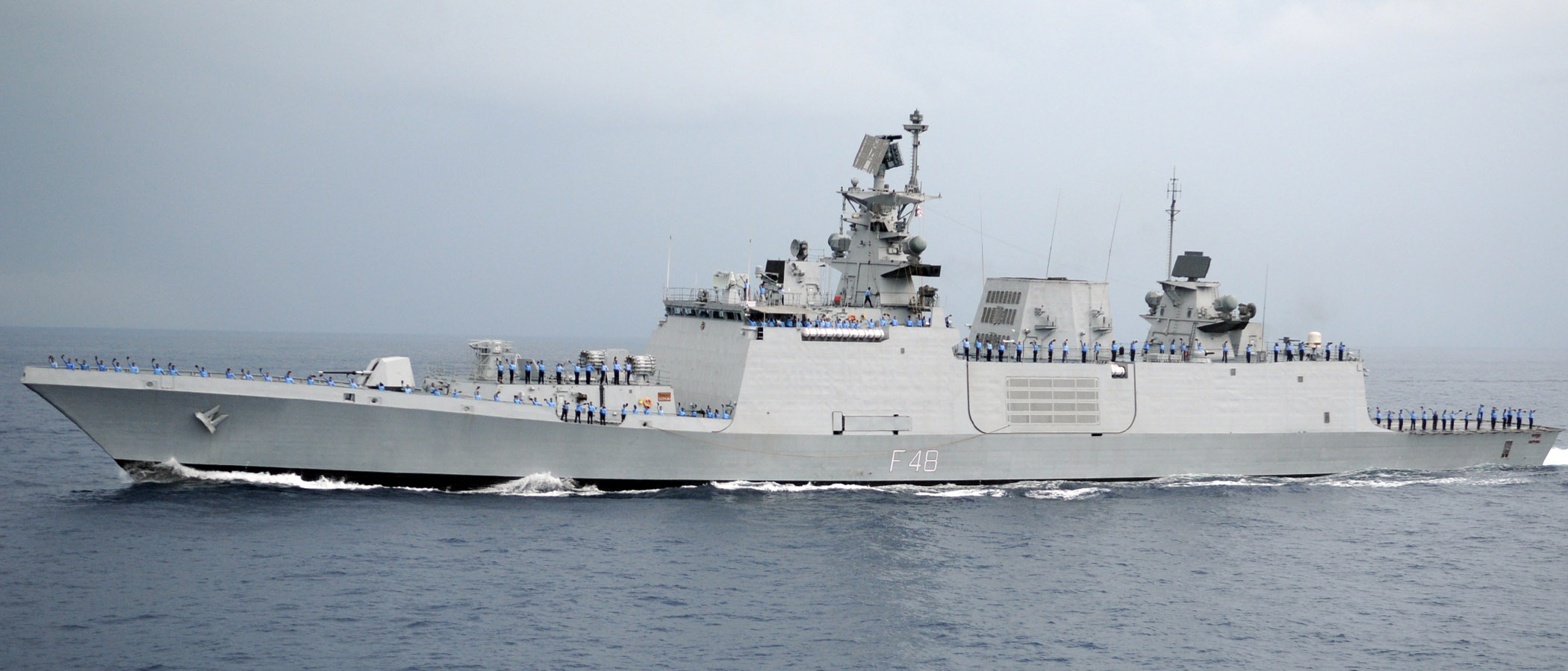 The Indian Navy had sent its stealth frigate INS Shivalik