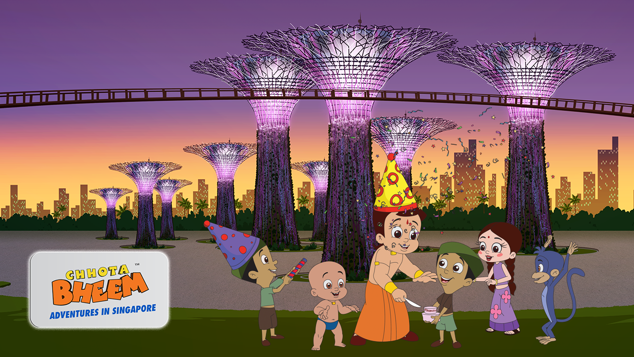 The animated miniseries, launched in three languages - English, Hindi and Tamil - shows Chota Bheem visiting Singapore on the occasion of his 11th birthday, gallivanting around popular destinations across the city-state.
