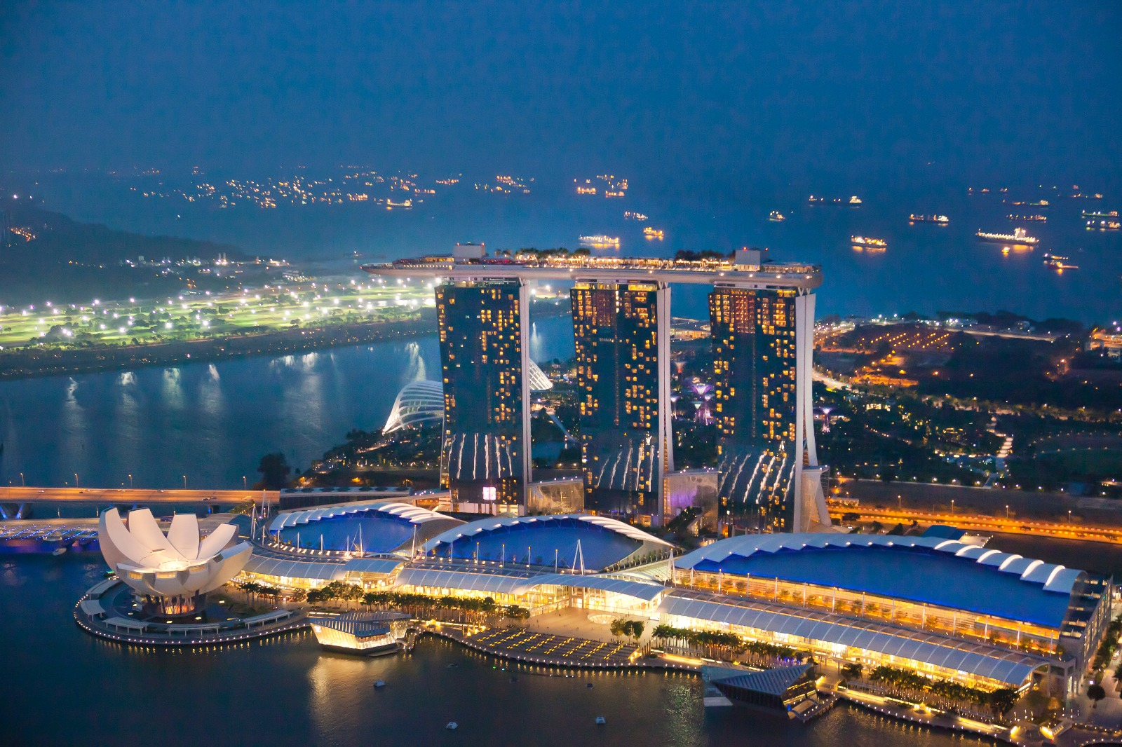 Singapore 1-Altitude of Marina Bay Sands & its surrounding areas STB