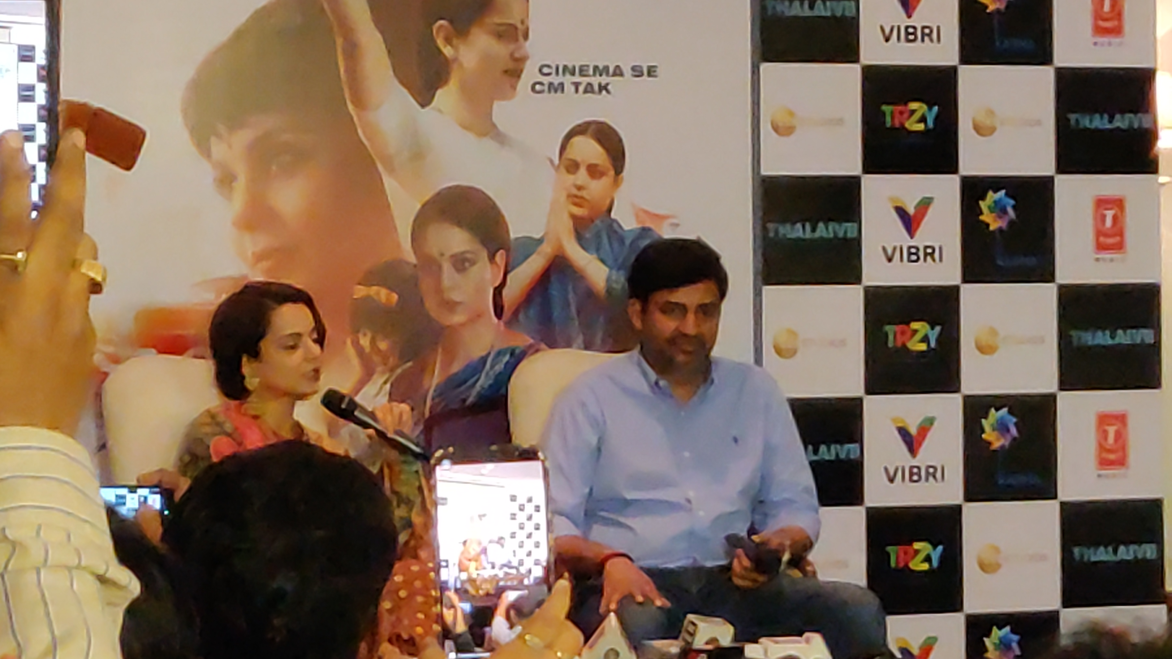 Kangana interacted with the media in a packed venue at The Imperial in New Delhi. Photo: Connected to India