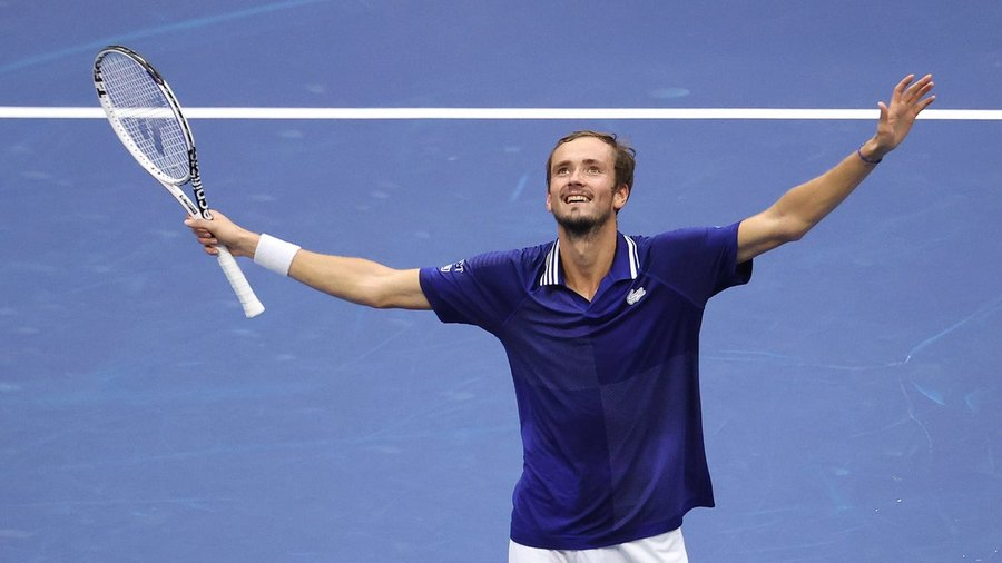 Medvedev, 25, became the third Russian man to win a Grand Slam title