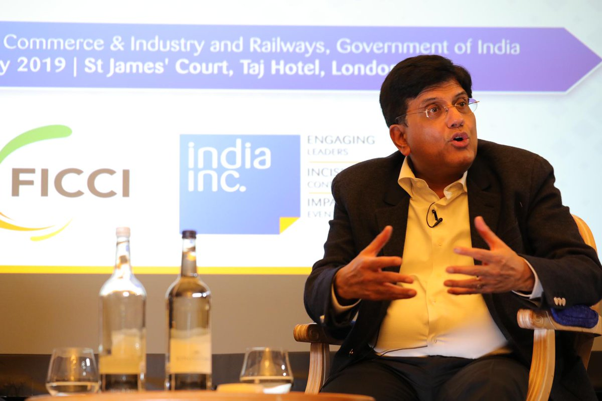 Goyal has also been on the record saying that an early harvest trade deal with the UK is in the pipeline.