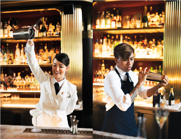 On Sunday from 3 pm to 9 pm, bartenders of ATLAS Lauren Sosnowsky and Lee Rosli will take centre-stage