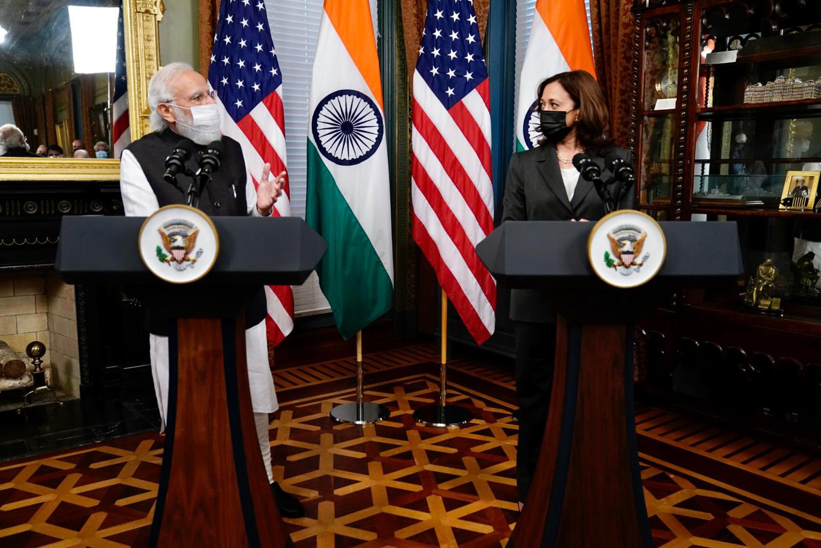 Modi met with Harris a day ahead of his highly anticipated bilateral meet with US President Joe Biden.