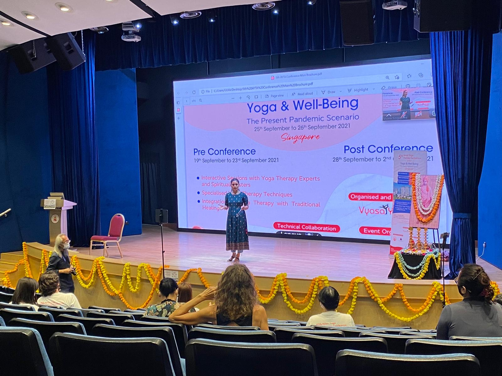 Event summarized to media by Sungapore event MC and media coordinator, Shashikala Venkatappa, Yoga Instructor, Vyasa Singapore