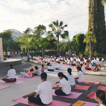Yoga Day spreads to the Singapore heartlands and the world