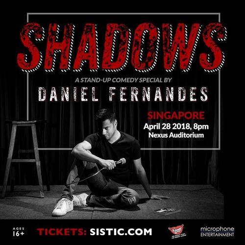 Daniel Fernandes brings hilarious live show \'Shadows\' to Singapore on Apr 28