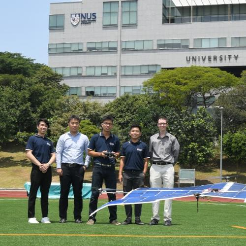 NUS engineers create drone powered by solar energy