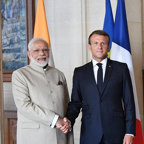 Kashmir issue should be resolved bilaterally says French President after meeting Modi
